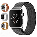 abordables Bracelets Apple Watch-Bracelet de Montre  pour Apple Watch Series 4/3/2/1 Apple Bracelet Milanais Acier Inoxydable Sangle de Poignet