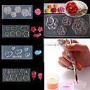 ieftine Machiaj & Îngrijire Unghii-4 pcs 3D Tipare Unghii Acrilice Aplicația de transfer de apă Încântător nail art pedichiura si manichiura Zilnic Floare / Desen animat / Modă