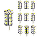abordables Luces LED de Doble Pin-3 W Luces LED de Doble Pin 150-200 lm G4 T 24 Cuentas LED SMD 5050 Regulable Decorativa Blanco Cálido Blanco Fresco 12 V, 10pcs / 10 piezas / Cañas