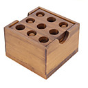 ieftine Audio & Video-Puzzle Lemn Jocuri IQ Kong Ming Lock Jucarii Test de inteligenta Novelty Lemn Fete Băieți Cadou 1pcs