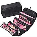 Cuero de PU El plastico Óvalo Viaje Casa Organización, 1pc Fundas y Tachos de Basura Almacenamiento de Maquillaje Ganchos para bolsas