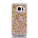 voordelige Galaxy S-serie hoesjes / covers-hoesje Voor Samsung Galaxy S7 edge / S7 Stromende vloeistof Achterkant Glitterglans Hard PC voor S7 edge / S7 / S6 edge plus