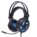 cheap Headsets & Headphones-SY855MV Over Ear Headband Wired Headphones Balanced Armature Plastic Gaming Earphone with Volume Control with Microphone Noise-isolating