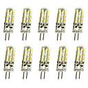 abordables Luces LED de Doble Pin-Jiawen 10pcs 1w 120lm g4 llevó luces de doble pin bombilla de maíz 24led smd 3014 lámpara de araña decorativa blanco cálido / blanco frío ac / dc 12v