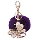 cheap Keychains-Balls / Key Chain Key Chain Butterfly Plush / Metal 1 pcs Pieces Girls' Gift