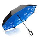 baratos Artigos de Limpeza-1pcs Plástico Sombrinha Ensolarado e chuvoso Chuva Guarda-Chuva Longo