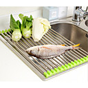 cheap Kitchen Storage-Vegetable Drainer Roll Up Stainless Steel Sink Dryer Rack Foldable Holder Kitchen