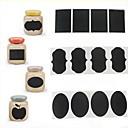 preiswerte Puzzles-36pcs Kreidestift Kreidetafel Aufkleber Etiketten Vinyl Küche jar Dekor Abziehbilder 5cm x 3.5cm
