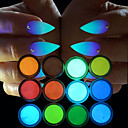 cheap Makeup & Nail Care-12pcs Glitter Powder Luminous / 12 Colors nail art Manicure Pedicure Chic & Modern Party Evening / Daily