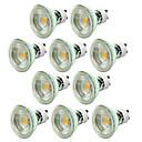 hesapli LED Bi-pin Işıklar-10pcs 5W 550-650lm GU10 LED Spot Işıkları 1 LED Boncuklar COB Kısılabilir Dekorotif Sıcak Beyaz Serin Beyaz 220-240V