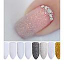 cheap Makeup & Nail Care-2g box holographic nail glitter powder shining sugar nail glitter dust powder nail art decorations set
