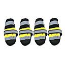 preiswerte Bekleidung & Accessoires für Hunde-Hund Schuhe und Stiefel Socken warm halten Wasserdicht Modisch Einfarbig Gelb Rot Für Haustiere