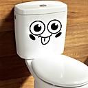 hesapli Banyo Gereçleri-Soyut Karton Duvar Etiketler Uçak Duvar Çıkartmaları Dekoratif Duvar Çıkartmaları Tuvalet Çıkartmaları, Kağıt Vinil Ev dekorasyonu Duvar