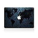 hesapli Mac Stickerlar-1 parça Deri Etiket için Çizilmeye Dayanıklı Harita Tema PVC MacBook Pro 15'' with Retina MacBook Pro 15'' MacBook Pro 13'' with Retina
