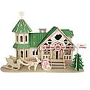 preiswerte Geschenke-Holzpuzzle Berühmte Gebäude Chinesische Architektur Haus Profi Level Hölzern 1 pcs Jungen Mädchen Spielzeuge Geschenk
