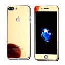 Недорогие Косметика и уход за ногтями-Защитная плёнка для экрана Apple для iPhone 7 Plus Закаленное стекло 1 ед. Защитная пленка для экрана и задней панели Зеркальная
