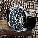 Χαμηλού Κόστους Ανδρικά ρολόγια-Ανδρικά Μοδάτο Ρολόι Χαλαζίας Δέρμα Μπάντα Αναλογικό Καθημερινό Μαύρο - Λευκό Μαύρο
