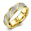 tanie Bransoletki-Damskie Kryształ Band Ring - Stal tytanowa minimalistyczny styl, Modny, Ślubny 6 / 7 / 8 Gold Na Prezenty bożonarodzeniowe / Ślub / Impreza