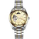 ieftine Ceasuri Bărbați-ASJ Bărbați Ceas Schelet ceas mecanic Japoneză Mecanism automat Oțel inoxidabil Argint 30 m faza Lunii Cool Analog Lux Vintage Casual - Negru Auriu