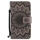 hesapli iPhone Kılıfları-Pouzdro Uyumluluk Samsung Galaxy S7 edge / S7 Cüzdan / Kart Tutucu / Satandlı Tam Kaplama Kılıf Çiçek Sert PU Deri için S7 edge / S7 / S6 edge plus