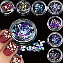 tanie Makijaż i pielęgnacja paznokci-12bottles/set Biżuteria do paznokci / Glitter i Poudre Nail Art Design Błyskotki / Ślub / Połyskujące Słodkie Codzienny