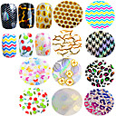 Buy Nail Art Transfer Foils Beautiful Flower Butterfly Cute Cherry Laser Design Manicure Polish Glue Sticker Beauty STZXK31-40
