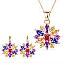 tanie Zegarki męskie-Damskie Biżuteria Ustaw - Kwiat Zawierać Bridal Jewelry Sets Gold / White / Rainbow Na Impreza / Codzienny / Casual