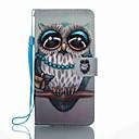 tanie Etui / Pokrowce do Huawei-Kılıf Na Huawei Etui na karty Portfel Z podpórką Flip Wzór Pełne etui Sowa Twarde Skóra PU na P8 Lite (2017) Mate 9 Huawei