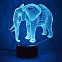 hesapli Duvar Işıkları-fil dokunmatik karartmalı 3d gece aydınlatması yol 7colorful dekorasyon atmosfer lamba yenilik aydınlatma ışık