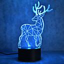 hesapli LED Şerit Işıklar-1pc 3D Gece Görüşü Dokunmatik 7-Renk USB Bağlantı Noktalı