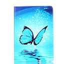 voordelige iPad-hoesjes/covers-hoesje Voor Apple iPad Air 2 iPad Air Kaarthouder Portemonnee met standaard Flip Magnetisch Patroon Volledig hoesje Vlinder Hard PU-nahka