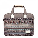 "cheap Laptop Cases-Canvas Bohemian Style Mixed Color Handbags Shoulder Bag 15"" Laptop"