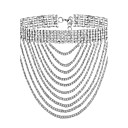 ieftine Brățări-Pentru femei Coliere Choker stivuibil Colier de argint lichid femei Modă Placat Auriu Diamante Artificiale Auriu Argintiu Coliere Bijuterii Pentru Petrecere Ocazie specială Cadou Zilnic
