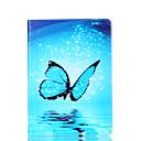 voordelige Galaxy A-serie hoesjes / covers-hoesje Voor Samsung Galaxy Tabblad Een 9.7 Kaarthouder Portemonnee met standaard Flip Magnetisch Patroon Volledig hoesje Vlinder Hard
