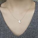 hesapli Kolyeler-Kadın's Uçlu Kolyeler - MOON Moda Altın, Gümüş Kolyeler Mücevher Uyumluluk Günlük