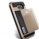 hesapli Köpek Evcil HayvanBakım Ürünleri-Pouzdro Uyumluluk Samsung Galaxy S8 Plus / S8 Kart Tutucu Arka Kapak Solid Sert PC için S8 Plus / S8 / S7 edge