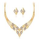 preiswerte Halsketten-Damen Geometrisch Schmuck-Set - Strass Modisch, Euramerican Einschließen Halskette Gold Für Hochzeit / Party / Besondere Anlässe