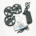 cheap Home Decoration-ZDM 15M(3*5M) Waterproof 72W 900X2835 RGB LEDs Strip Flexible Light with 44Key IR Remote Controller Kit and 12V 6A EU/US/AU Power Supply AC110-240V