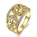 hesapli Yüzükler-Kadın's Kristal Yüzük / Nişan yüzüğü - Bakır, Altın Kaplama, Gül Rengi Altın Kaplama Çiçek Kişiselleştirilmiş, Moda, Euramerican 6 / 7 / 8 Altın / Gül Altın Uyumluluk Yılbaşı Hediyeleri / Düğün