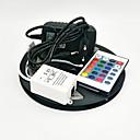 hesapli AC Adaptör ve Güç Kabloları-ZDM® 5m RGB Şerit Işıklar 300 LED'ler 3528 SMD RGB Uzaktan Kontrol / Kesilebilir / Kısılabilir 100-240 V / Bağlanabilir / Kendinden Yapışkanlı / Renk Değiştiren / IP44