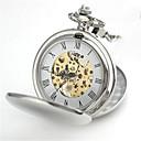hesapli Erkek Saatleri-Erkek Cep kol saati Quartz 30 m Alaşım Bant Analog Gümüş - Gümüş