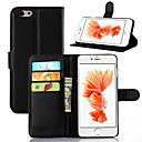 cheap iPhone Cases-Case For Apple iPhone 7 Plus iPhone 7 Card Holder Wallet Shockproof with Stand Ultra-thin Other Full Body Cases Solid Color Hard PU