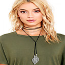 cheap Necklaces-Women's Tassel Choker Necklace - Leaf Personalized, Tassel, Fashion Black, Gray, Brown Necklace For Daily, Casual