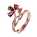 povoljno Prstenje-Žene pljuska Ring - Plastika, Kristal, Pozlata od crvenog zlata Cvijet Prilagodljive Rose Gold Za Party Rođendan Poslovanje