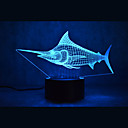 preiswerte Backzubehör & Geräte-1 Stück 3D Nachtlicht Mehrfarbig USB Sensor Abblendbar Wasserfest Farbwechsel