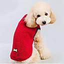 Недорогие Органайзеры для рабочего стола-Кошка Собака Свитера Одежда для собак Однотонный Красный Синий Хлопок Костюм Для домашних животных Муж. Жен. Сохраняет тепло