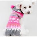 abordables Vêtements & Accessoires pour Chien-Chien Pull Vêtements pour Chien Géométrique Fuchsia Soie Coton Costume Pour les animaux domestiques Homme Femme Décontracté / Quotidien