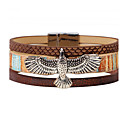 cheap Bracelets-Men's Geometric Leather Bracelet - Leather Vintage, Punk, Rock Bracelet Black / Brown For Christmas Gifts / Party / Anniversary