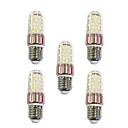 preiswerte LED-Kolbenbirnen-5 Stück 9 W 600 lm E27 LED Mais-Birnen T 60 LED-Perlen SMD 2835 Warmes Weiß Weiß 220-240 V