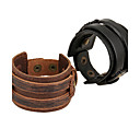 cheap Earrings-Men's Women's Leather Bracelet - Leather Natural, Fashion Bracelet Black / Brown For Special Occasion Gift Sports